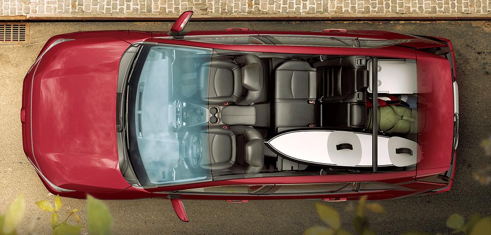 2019 Toyota RAV4 Overheard View of Interior