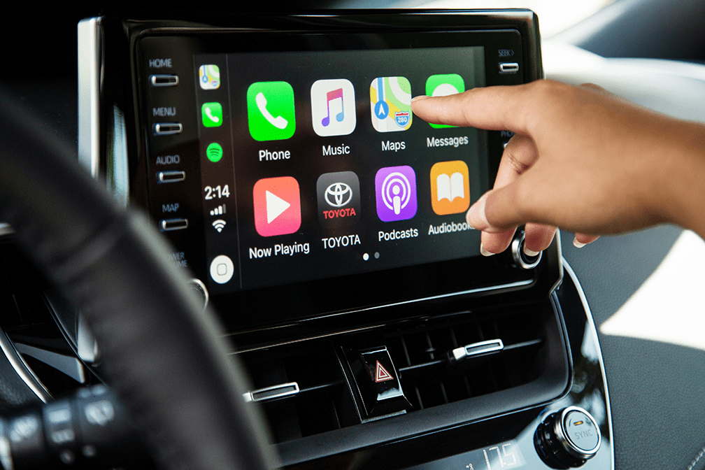 2019 Corolla Hatchback featuring Apple CarPlay