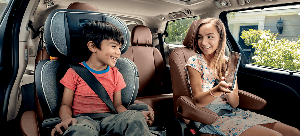 2019 Toyota Sienna's rear seating