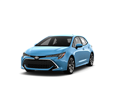2019 Toyota Corolla Hatchback in Blue Flame