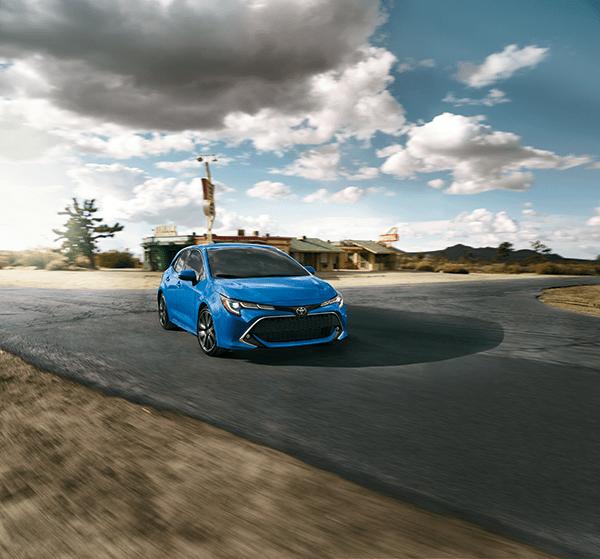 2019 Corolla Hatchback XSE in Blue Flame