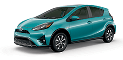 2019 Toyota Prius c in Clear Emerald Pearl