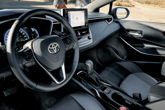 2019 Toyota Corolla Hatchback Driver's Side Interior