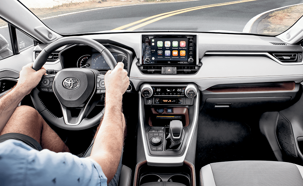 The all-new 2019 Toyota RAV4 Front Console