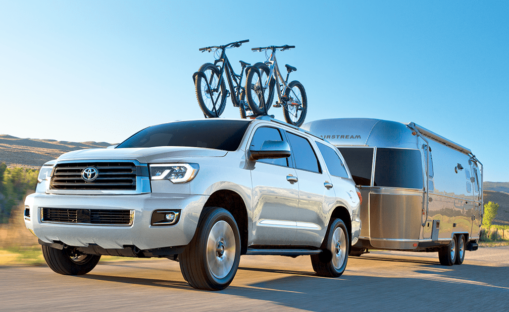 2019 Toyota Sequoia shown in Super White