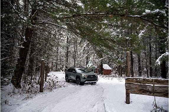 drive in winter