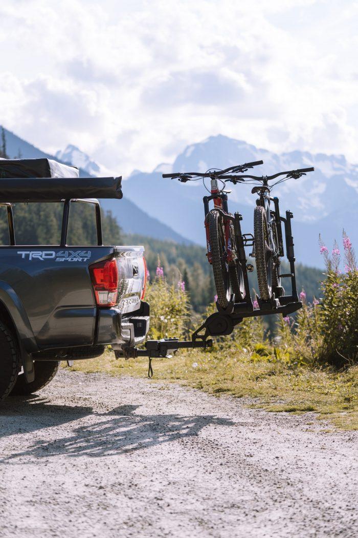 Toyota Tacoma with Mountain Bikes