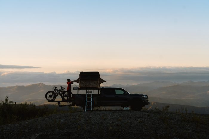 Toyota Tacoma tent and camping