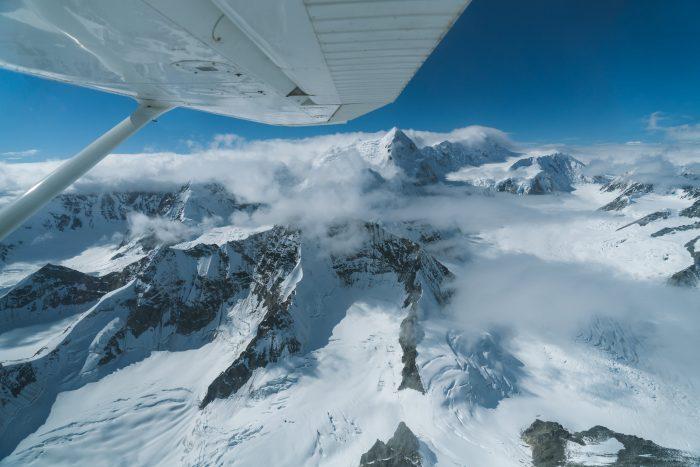 Remote Yukon Mountains on the road trip adventure
