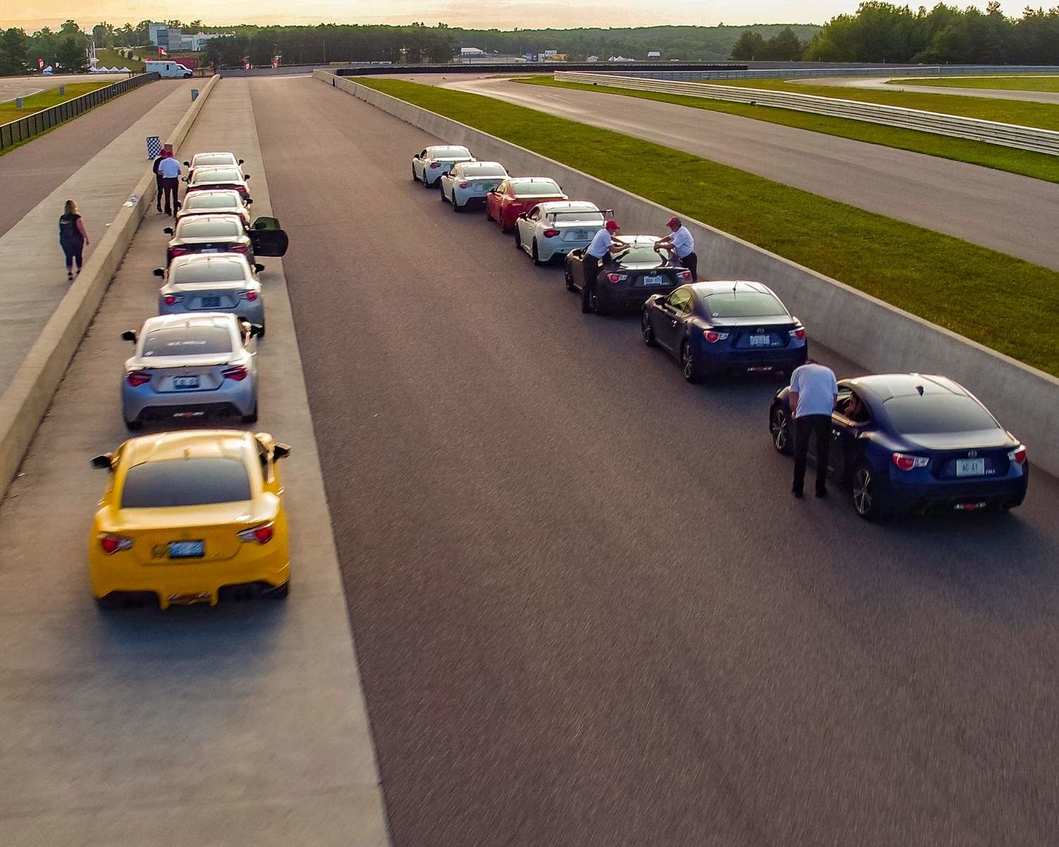 Track Day starting grid