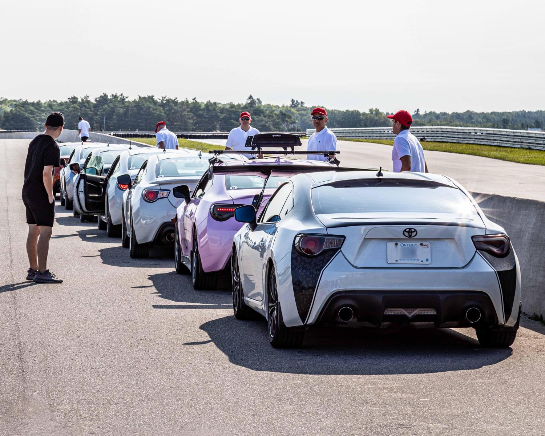 La Toyota 86 sur le circuit de course