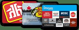 Cartes de récompenses pour Home Hardware, Bass Pro Shops et Cara Foods