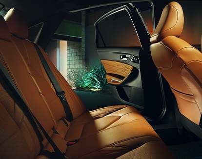 Avalon Limited interior shown in Cognac Semi-Ailine