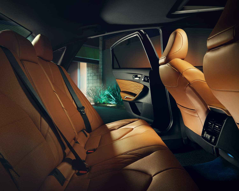 Avalon Limited interior shown in Cognac Semi-Ailine