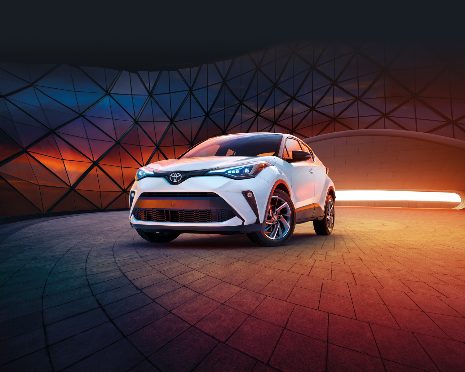 C-HR shown in Blizard Pearl with Black Roof