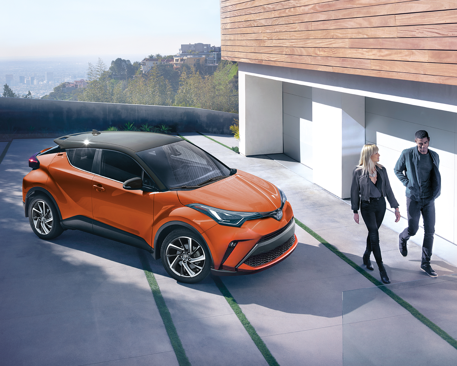 C-HR shown in Hot Lava with Black Roof