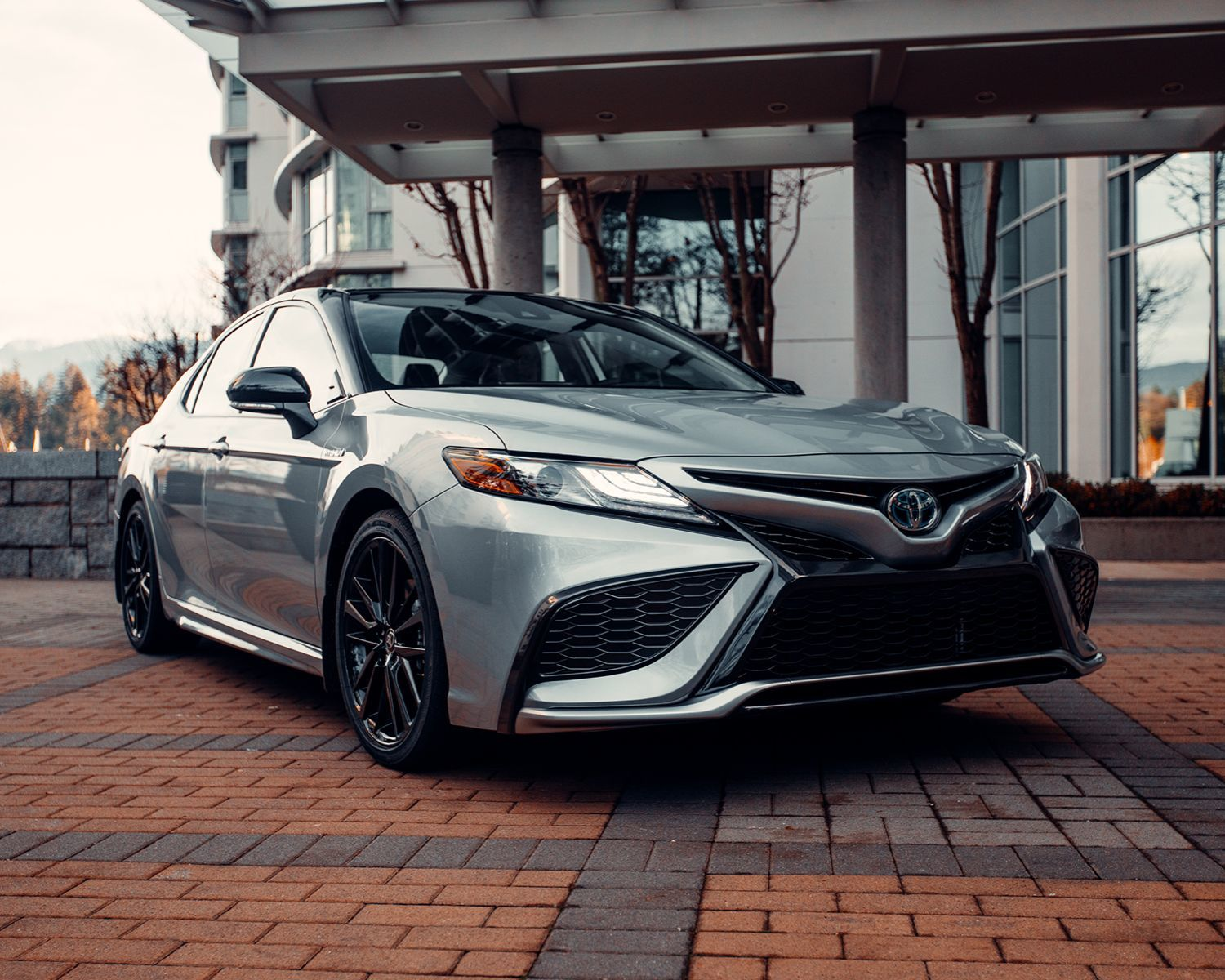 Camry Hybrid XSE shown in Celestial Silver Metallic with Black Roof