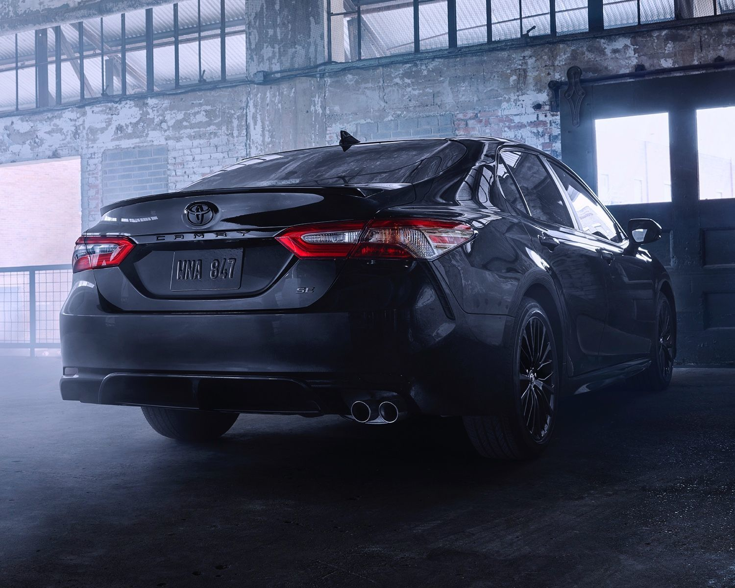 Camry SE AWD Nightshade Edition shown in Midnight Black Metallic
