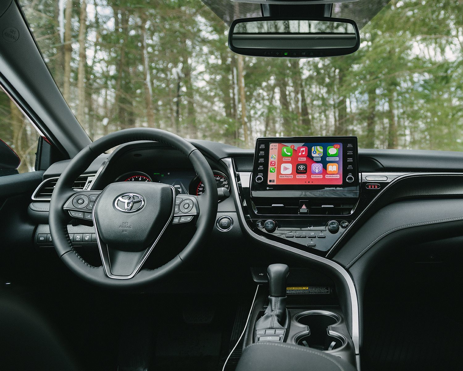 Camry XSE AWD shown with Black Sports Leather Interior