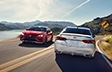 Camry XSE shown in Supersonic Red and Celestial Silver Metallic