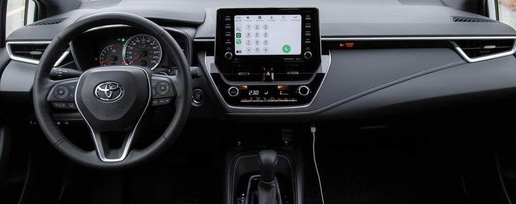 Corolla Hatchback CVT Nightshade Package dashboard