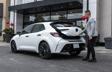 Corolla Hatchback CVT Nightshade Package shown in Super White
