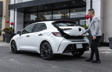 Corolla Hatchback CVT Nightshade Package shown in Super White