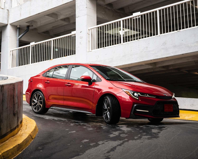 Corolla XSE shown in Barcelona Red Metallic