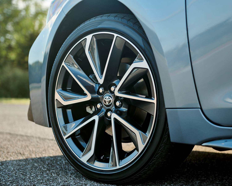 2021 Corolla close up shot of wheel