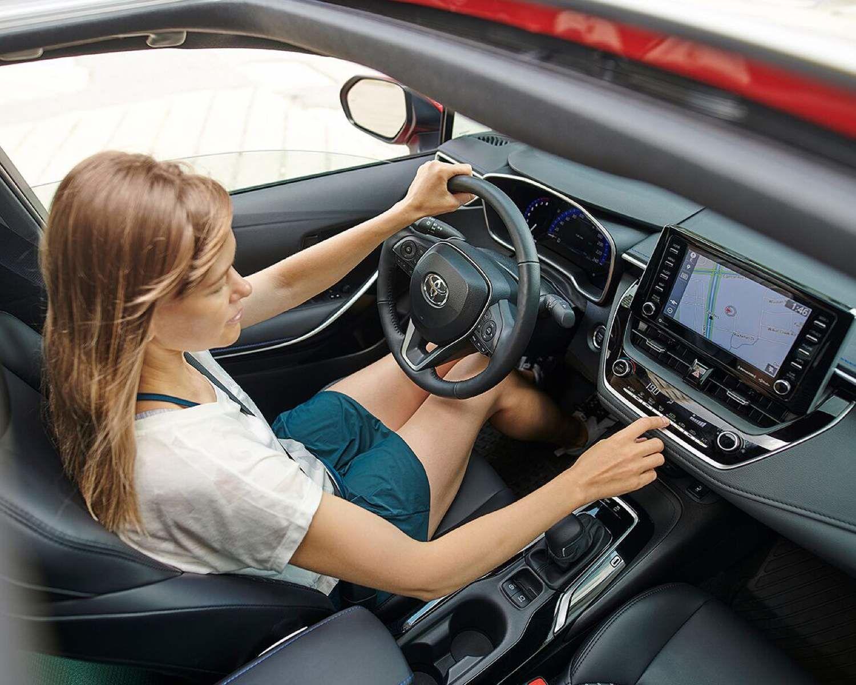 2021 Corolla women driving