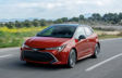 Corolla Hatchback XSE shown in Finish Line Red with Black Roof