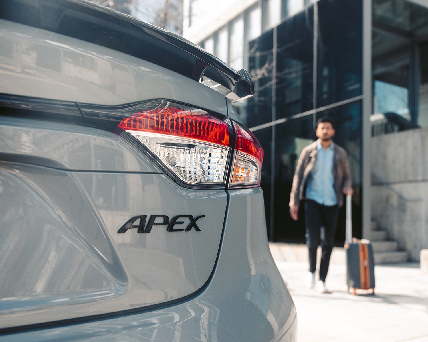 Corolla SE CVT Apex Edition shown in Cement Grey with Black Roof