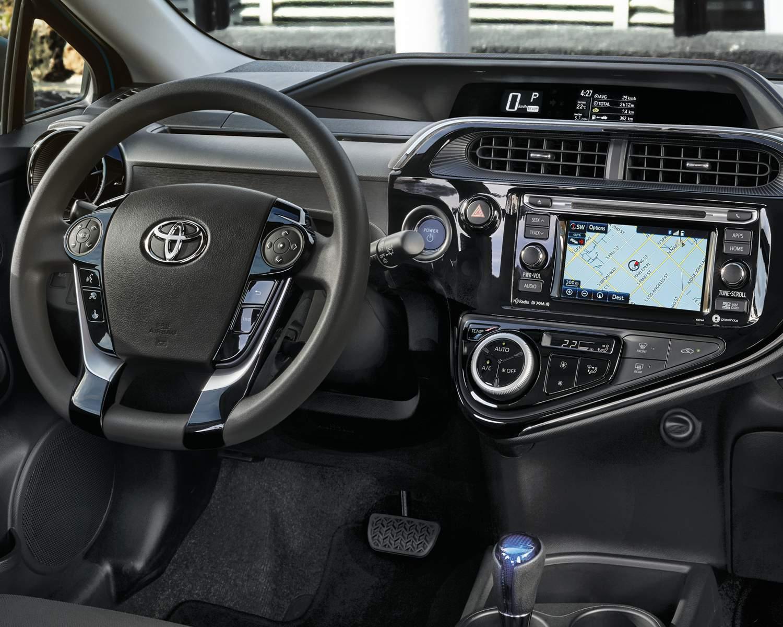 Tableau de bord de la Prius c Technologie