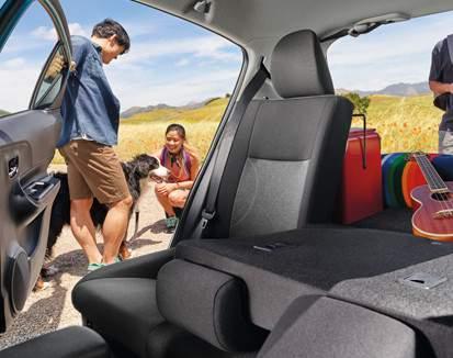 Banquette arrière divisée 60/40 de la Prius c Technologie