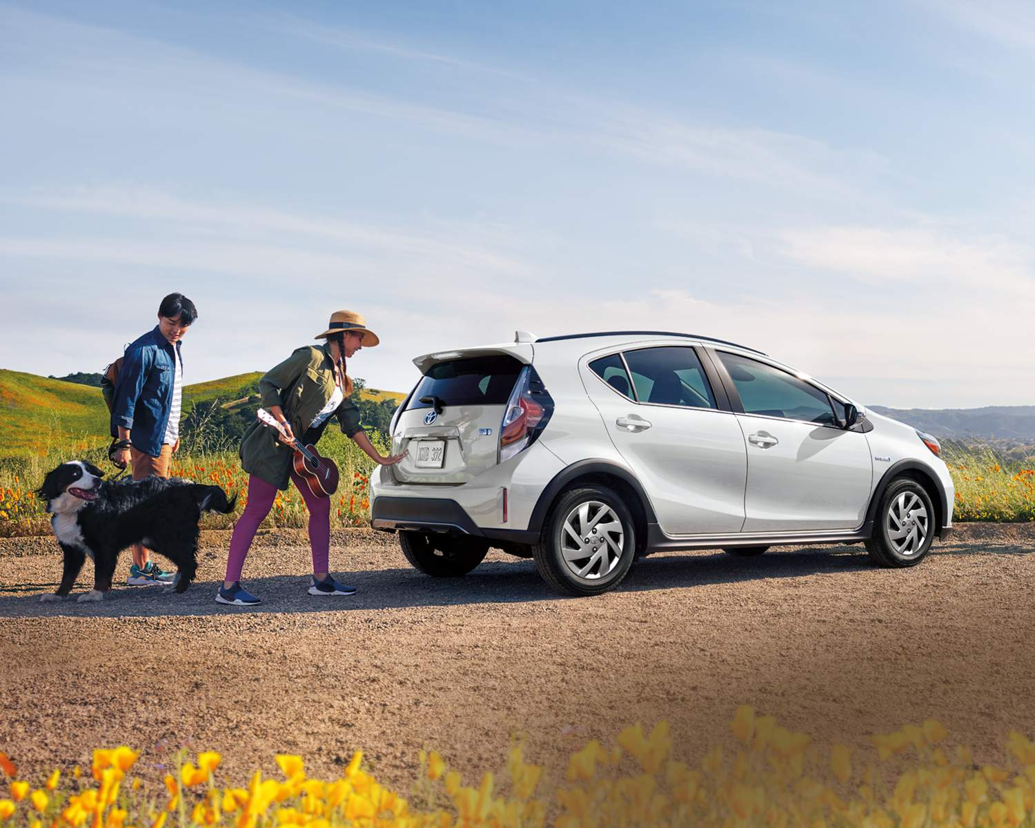 Prius c Upgrade package shown in Moonglow
