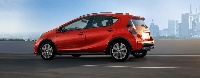 Prius c shown in Absolutely Red