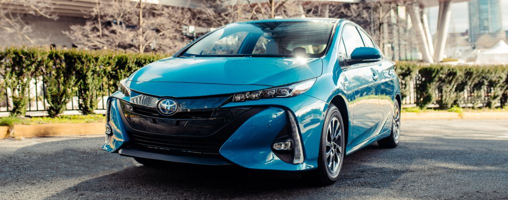 Prius Prime Technology shown in Blue Magnetism