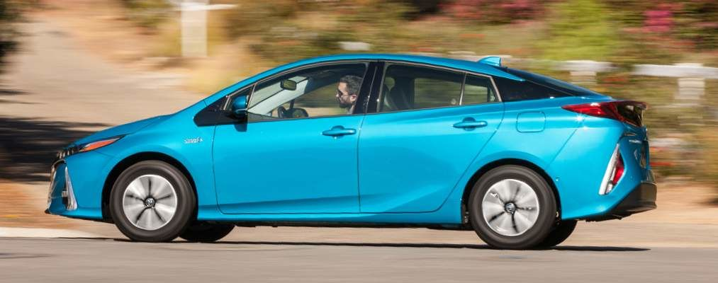 Prius Prime shown in Blue Magnetism