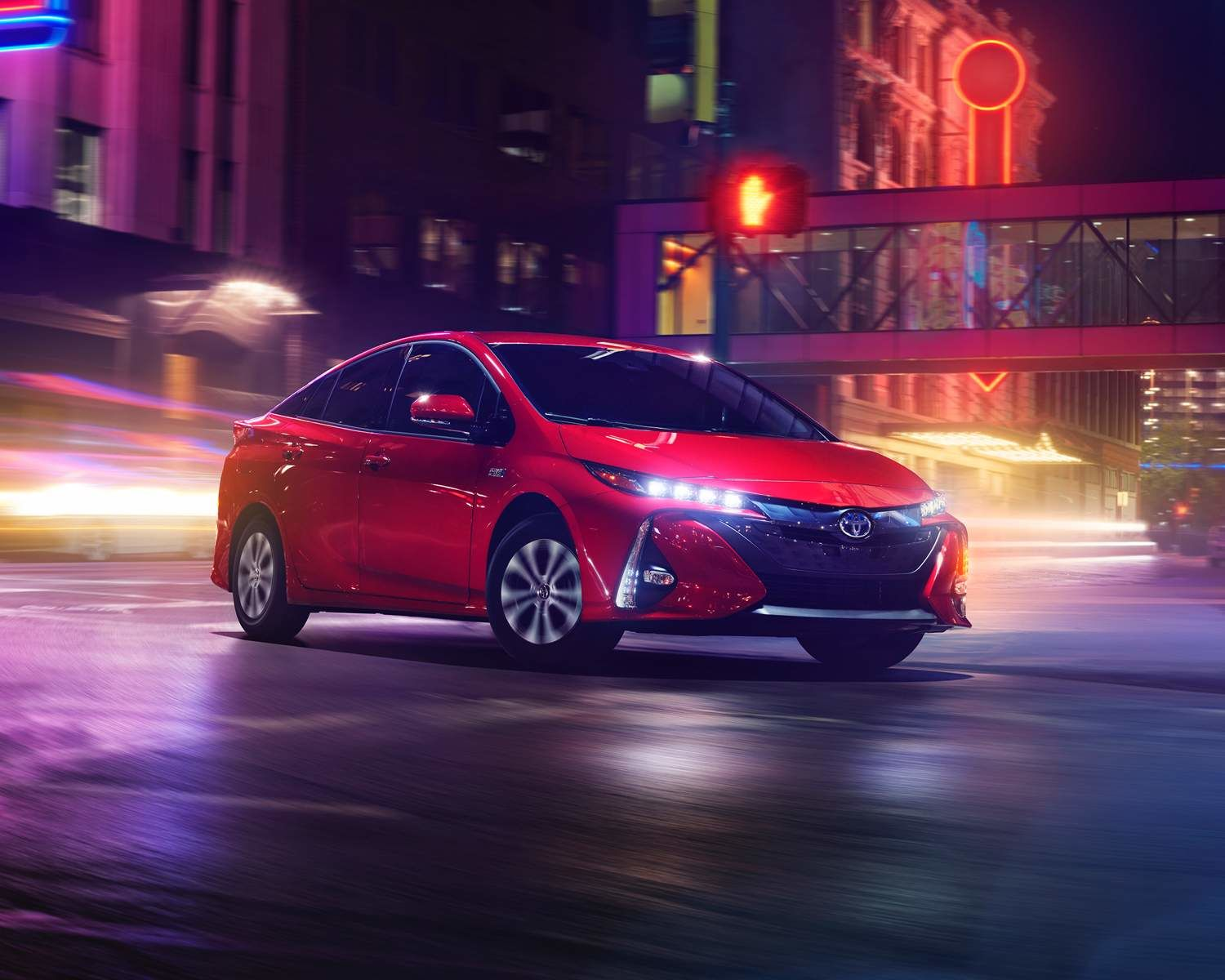 Prius Prime shown in Supersonic Red