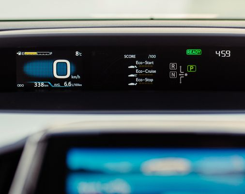 Écran de la Prius Prime