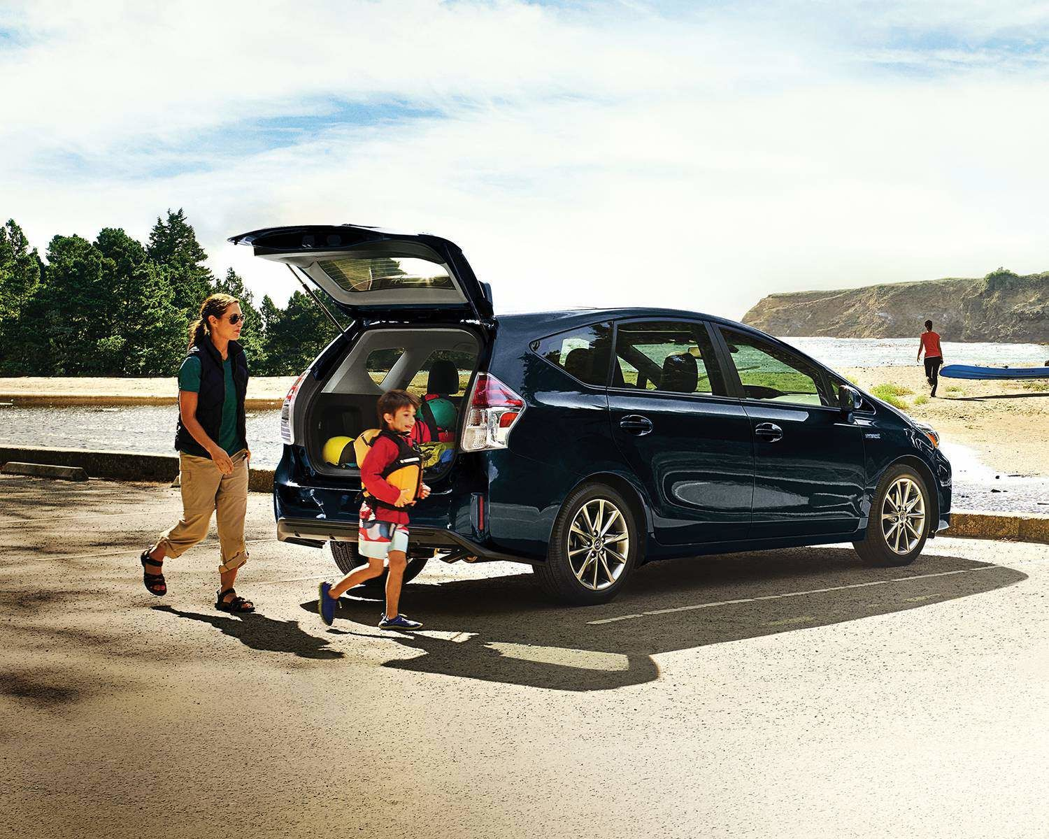 Prius v Technology Package shown in Galactic Aqua Mica