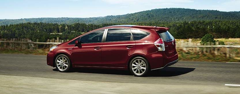 Prius v Technology Package shown in Absolutely Red