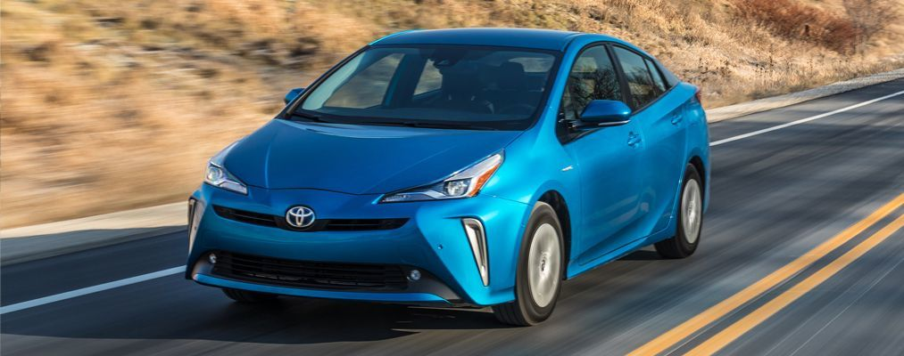 Prius AWD-e shown in Electric Storm Blue