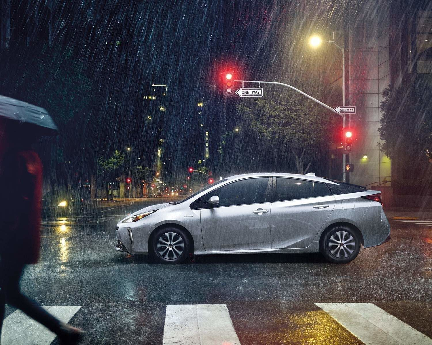 Prius Advanced Technology AWD-e shown in Classic Silver Metallic