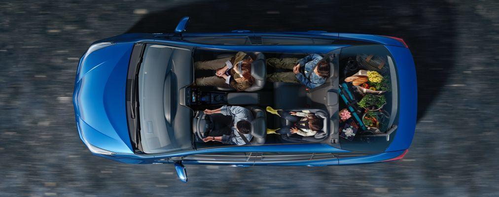 Prius place assise et spacieux volume de chargement intérieur