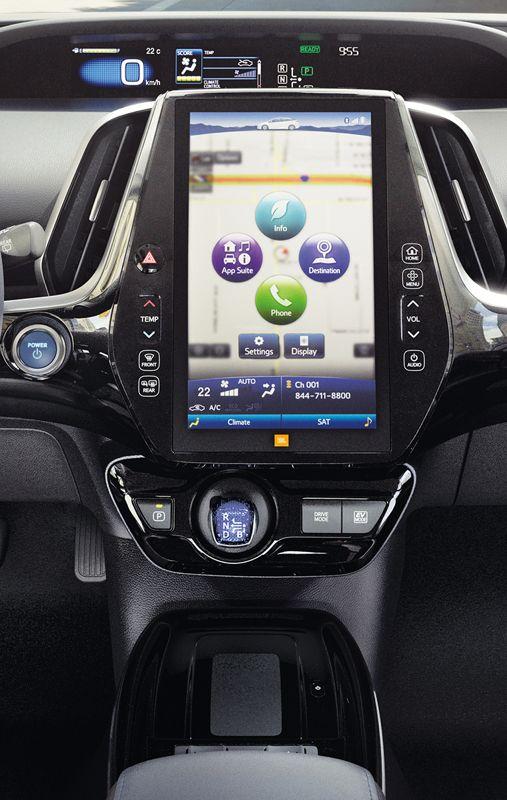 Prius Technology AWD-e dash shown in Black SofTex