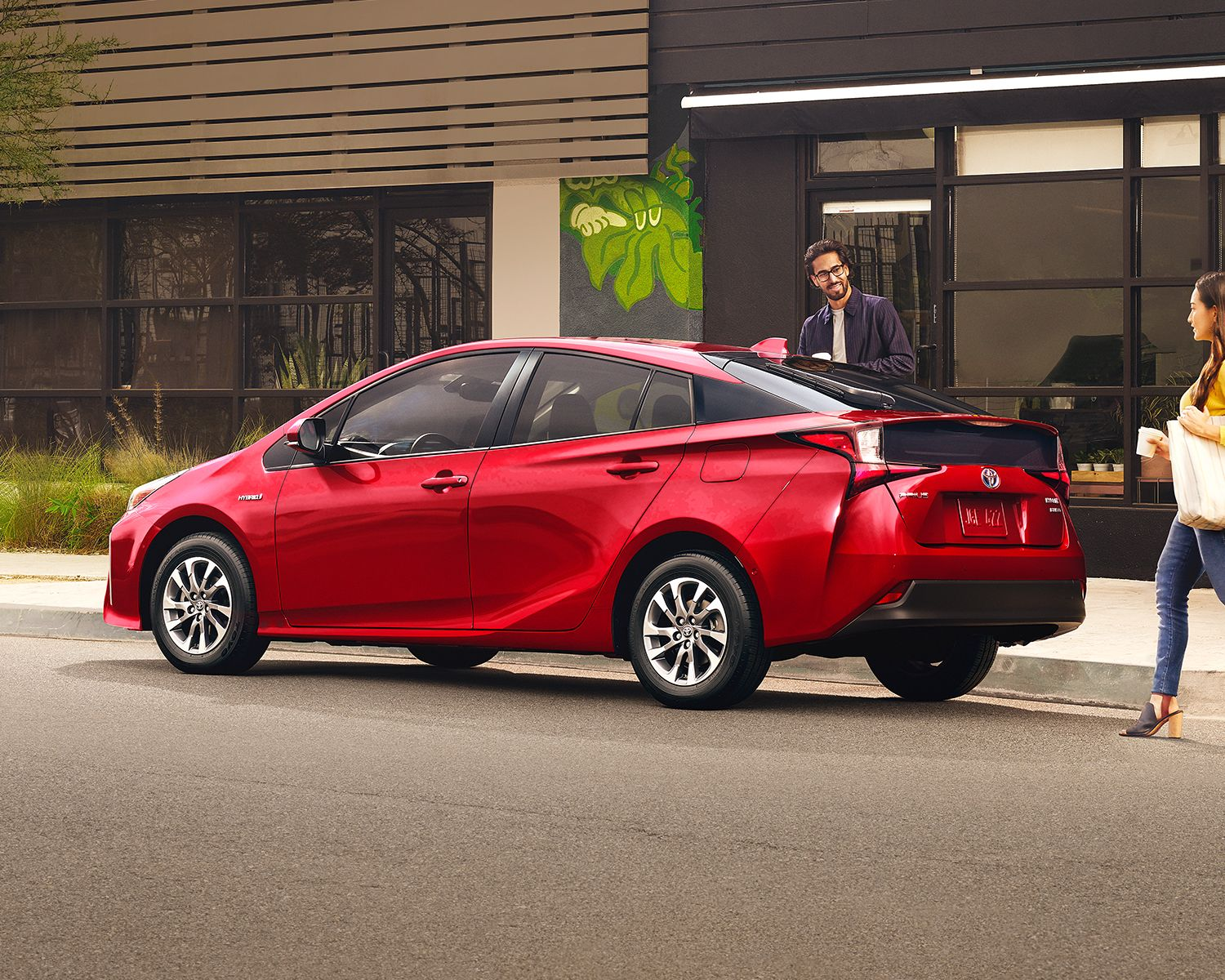 Prius Technology shown in Supersonic Red