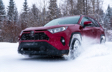 RAV4 XLE Premium AWD shown in Ruby Flare Pearl