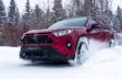 RAV4 XLE Premium AWD montrée en Rouge rubis nacré