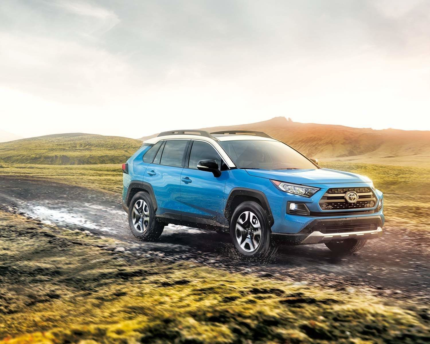 RAV4 Trail shown in Blue Flame with White Roof